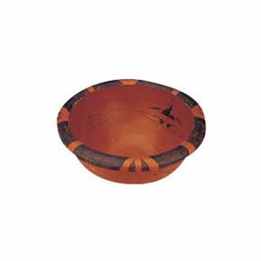 人面鱼纹彩陶盆模型人面鱼纹彩陶盆模型